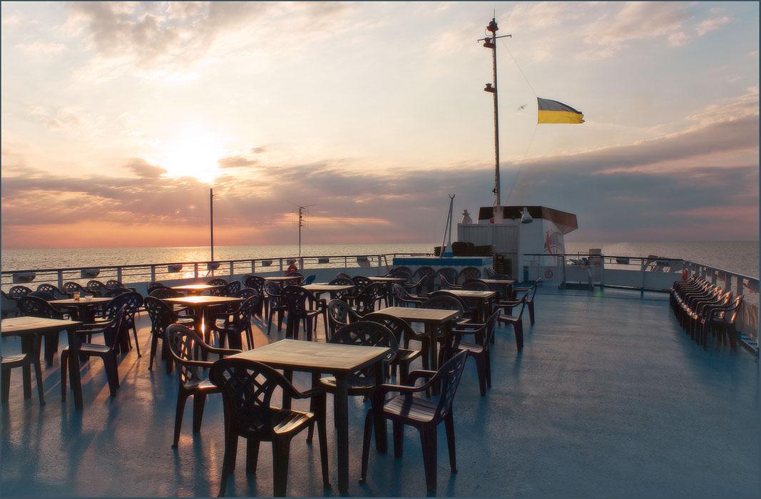 """фото """"Утро в открытом море"""" метки: пейзаж, вода, закат"""