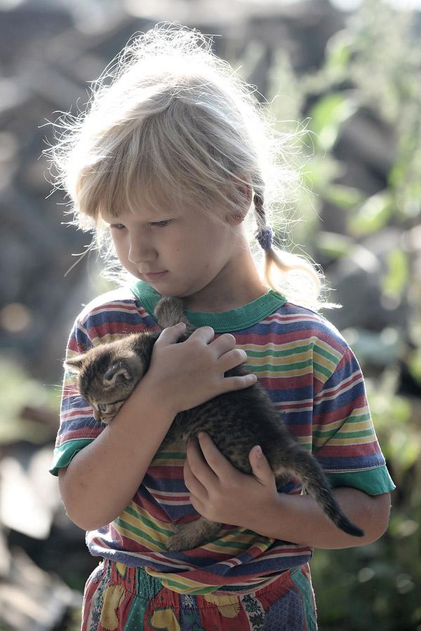 """фото """"Портрет с котенком"""" метки: портрет, дети"""
