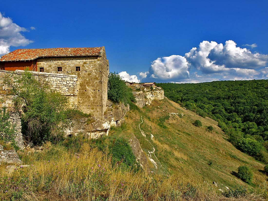"фото ""Чуфут-Кале-6"" метки: архитектура, пейзаж, горы"