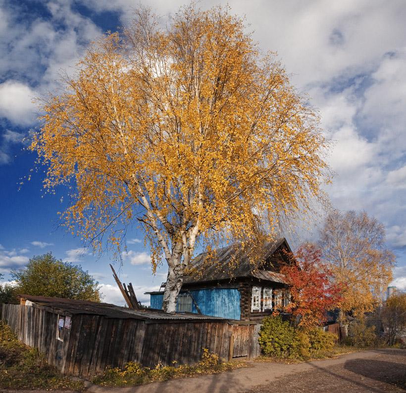 фотографии деревенской осени нас найдете