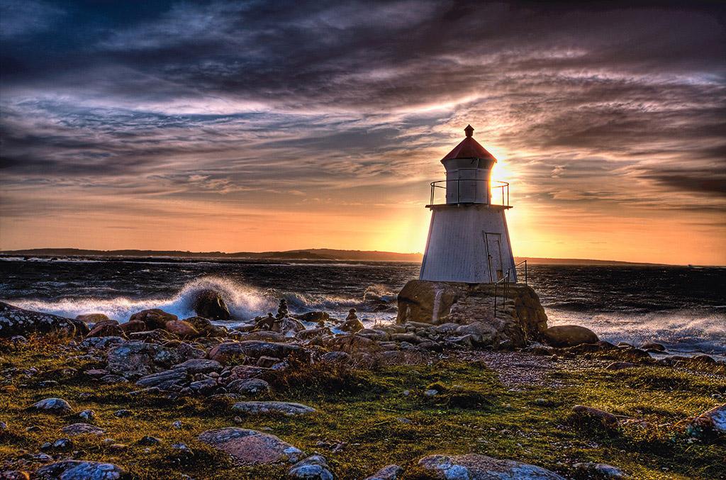 "фото ""Lighthouse....."" метки: пейзаж, вода, закат"