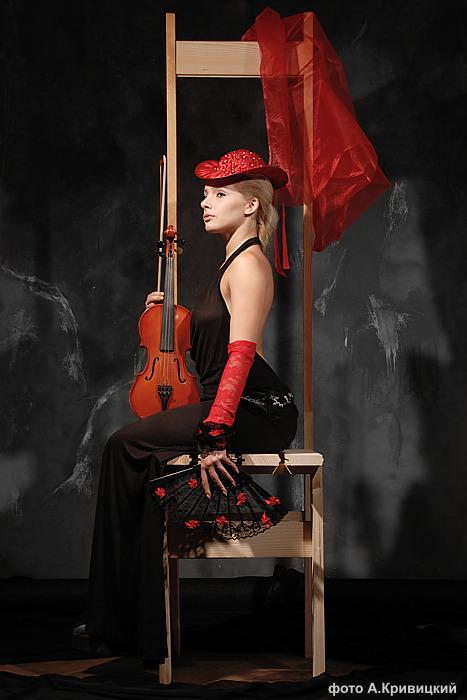 """фото """"Ретро-Скрипка"""" метки: портрет, жанр, женщина"""