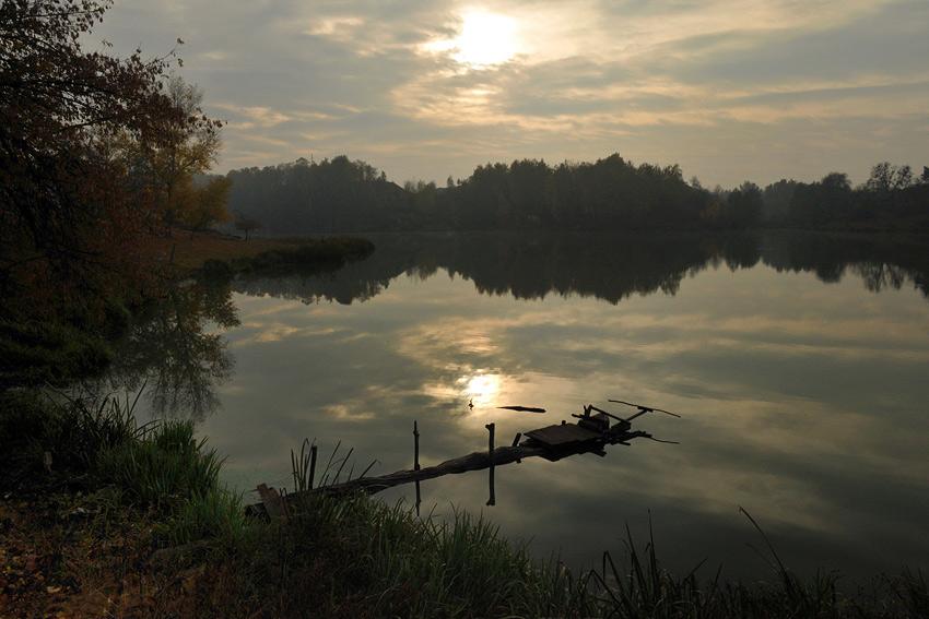 """фото """"Рыбацкое место"""" метки: пейзаж, вода, осень"""