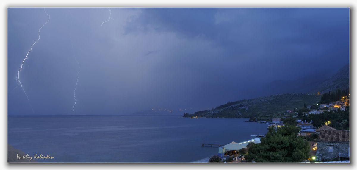 "фото ""Адриатика. Гроза. (Хорватия)"" метки: пейзаж, облака"