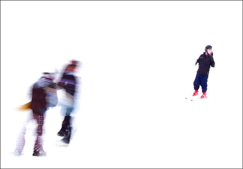 """фото """"Лыжники"""" метки: абстракция, спорт,"""