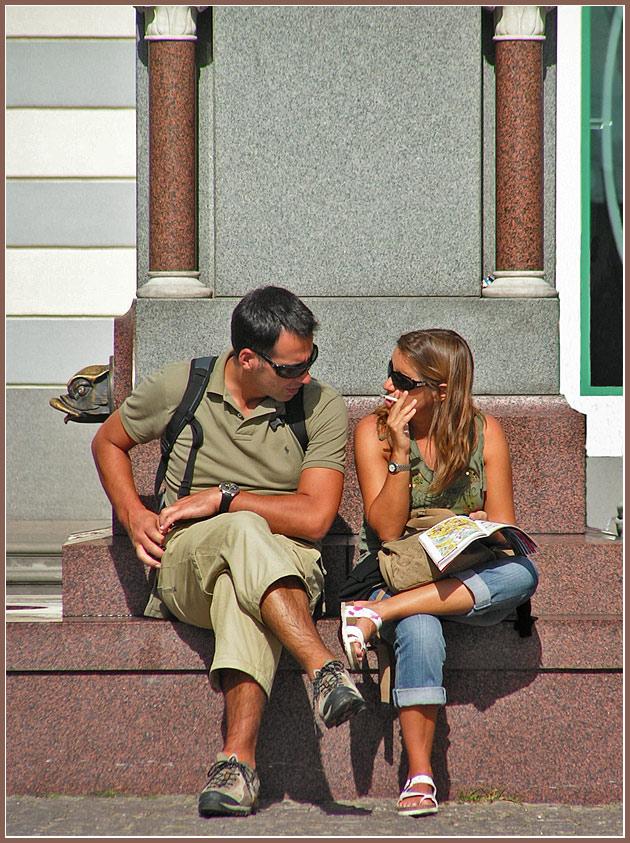 """фото """"Уличные зарисовки. Туристы."""" метки: репортаж, город,"""