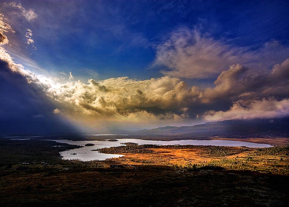 """фото """"Atum light...."""" метки: пейзаж, горы, закат"""