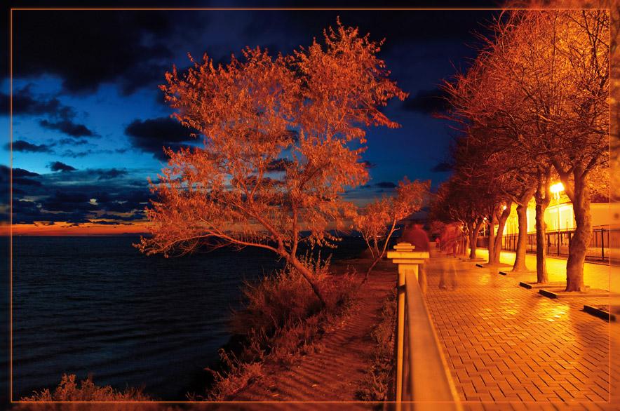 "фото ""Анапа. Высокий берег"" метки: пейзаж, вода, ночь"
