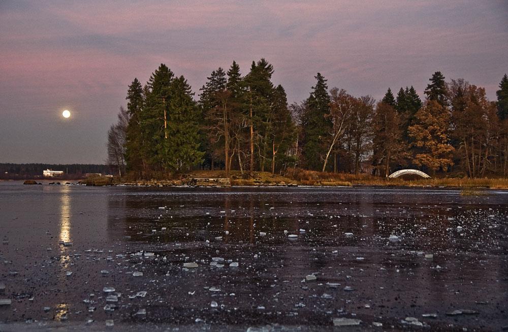 """фото """"Пока не зашло солнце за горизонт..."""" метки: пейзаж, ночь, осень"""