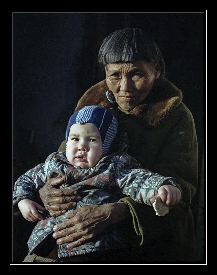 """фото """"Бабушка и внук..."""" метки: портрет, ретро,"""