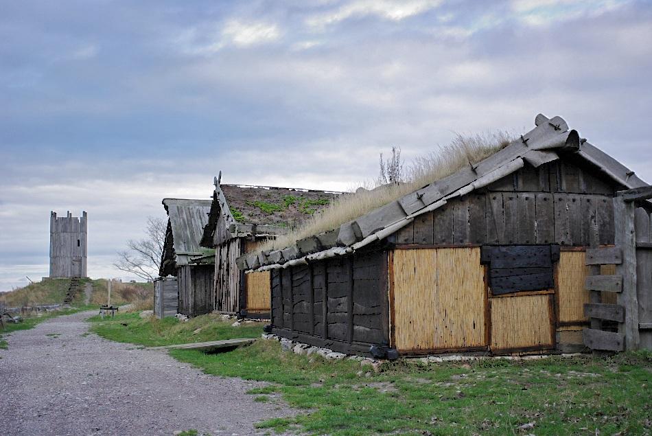 """фото """"Viking village Hollviken..."""" метки: архитектура, пейзаж, осень"""
