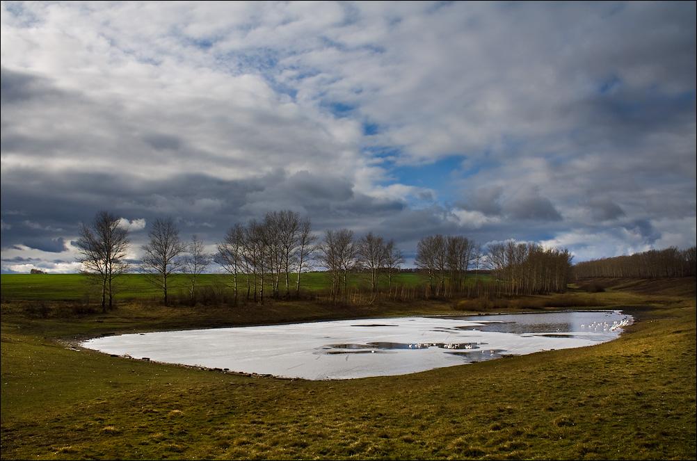 """фото """"Первый лед"""" метки: пейзаж, вода, осень"""