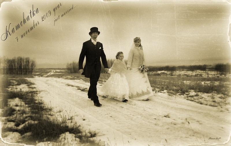 """фото """"Just married"""" метки: ретро,"""