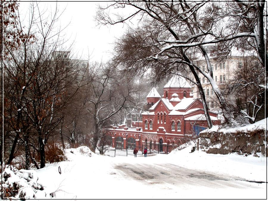 """фото """"Первый снег."""" метки: архитектура, пейзаж, зима"""