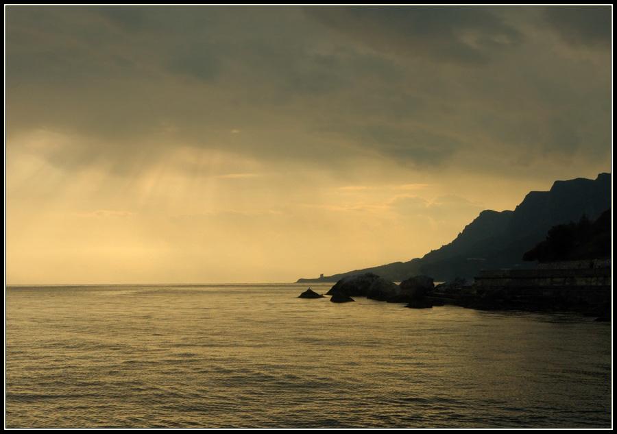 """фото """"Вечерний Крым"""" метки: пейзаж, вода, закат"""