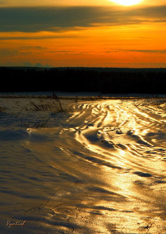 """фото """"molten gold"""" метки: пейзаж, закат"""
