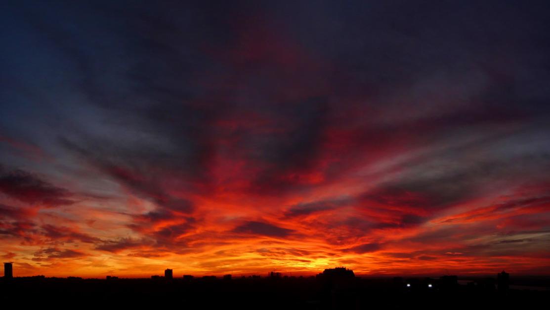 "фото ""Ноябрьский закат над Самарой"" метки: пейзаж, закат"