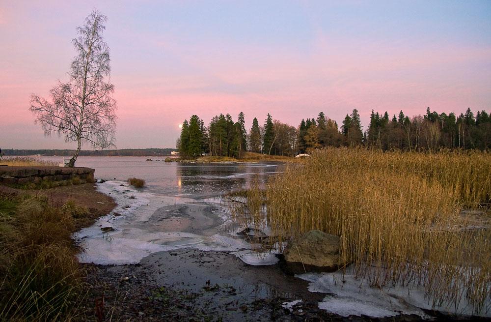 """фото """"Морозный вечер."""" метки: пейзаж, зима, ночь"""