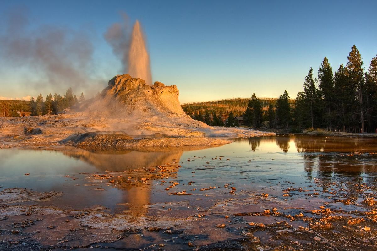 """фото """"Горячее дыхание планеты"""" метки: пейзаж, вода, закат"""