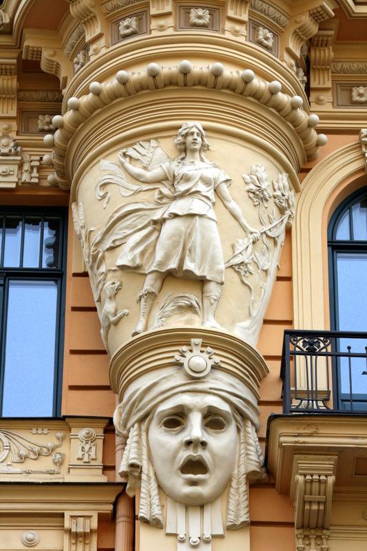 "фото ""Alberta Street, Riga"" метки: путешествия, архитектура, пейзаж, Европа"