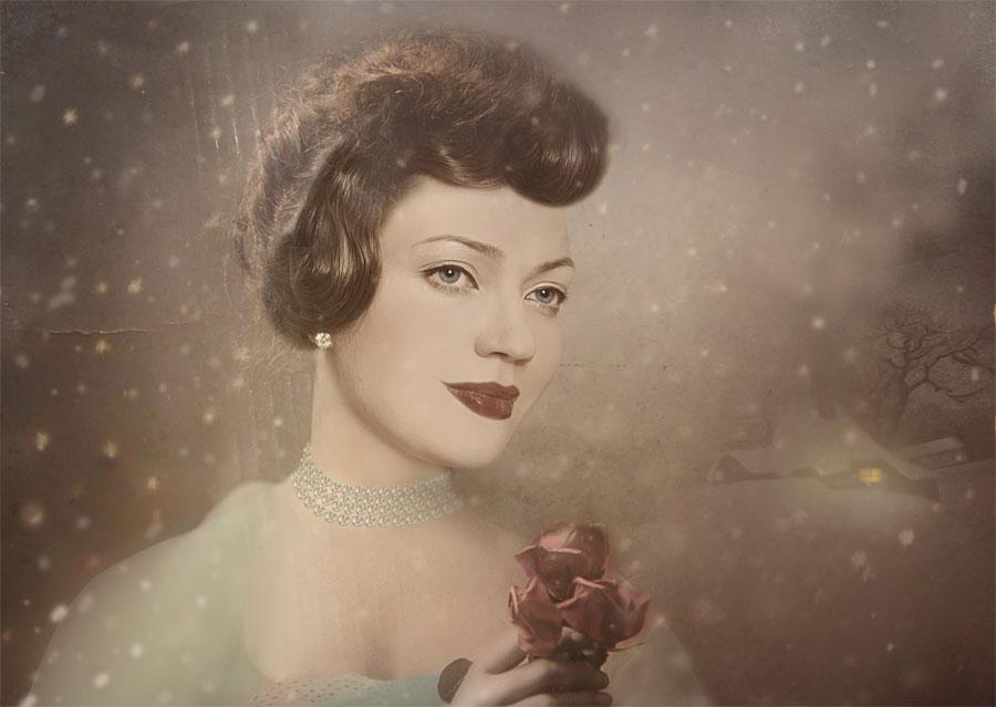 "фото ""Снежная"" метки: портрет, ретро, женщина"