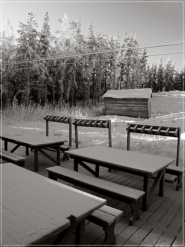 "фото ""Летнее кафе"" метки: пейзаж, зима"