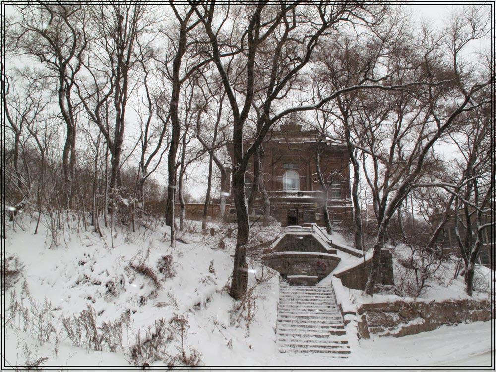 """фото """"В метель"""" метки: архитектура, пейзаж,"""