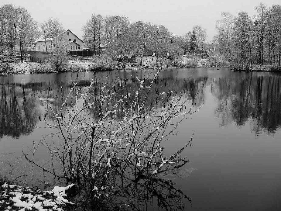 """фото """"Ноябрь, первый снег"""" метки: пейзаж, вода, осень"""
