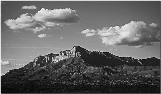 """фото """"Guadalupe Range"""" метки: пейзаж, черно-белые, горы"""