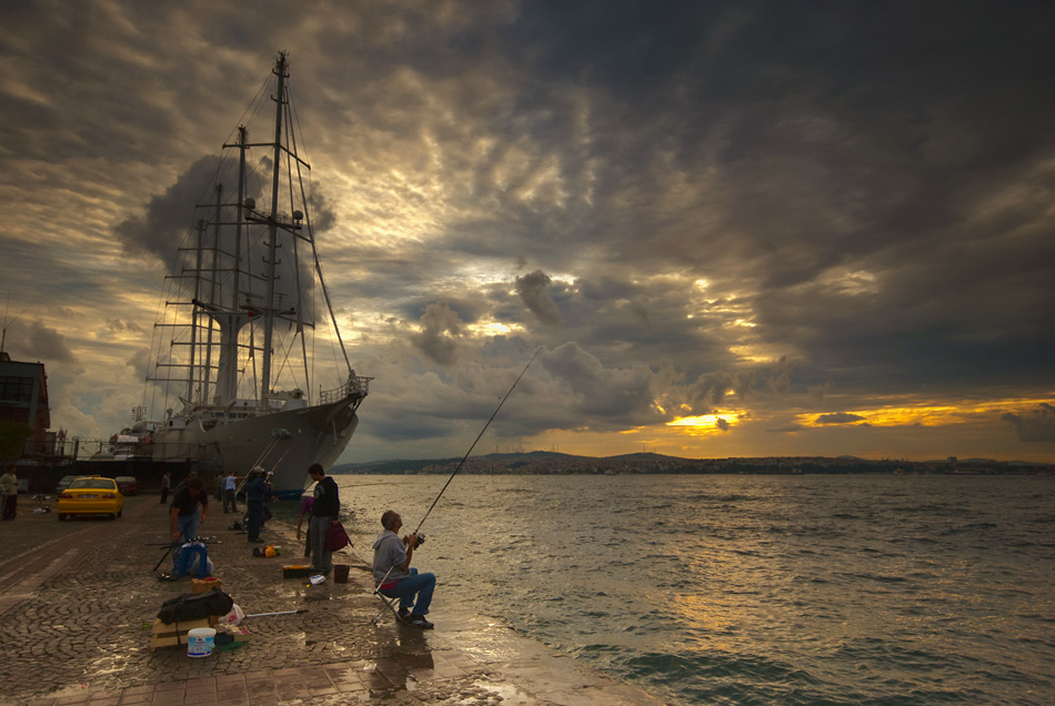 "фото ""morning fisher"" метки: пейзаж, закат"