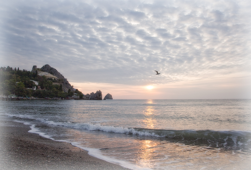 "фото ""Нежное утро"" метки: пейзаж, закат"