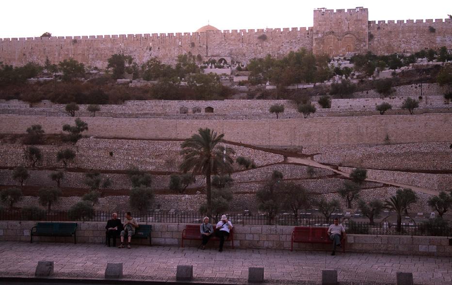 "фото ""Иерусалим. Золотые ворота после заката."" метки: путешествия, город,"