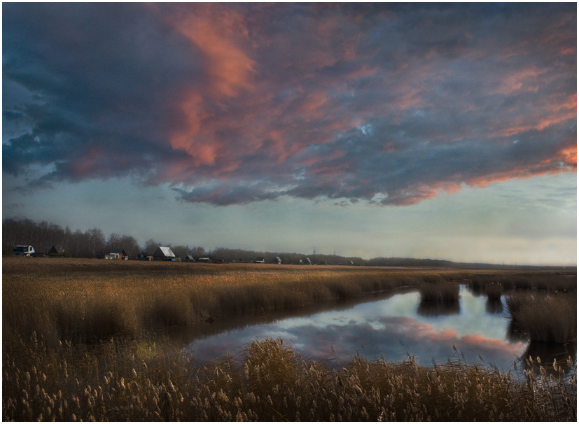"фото ""Вечерняя"" метки: пейзаж, облака, осень"