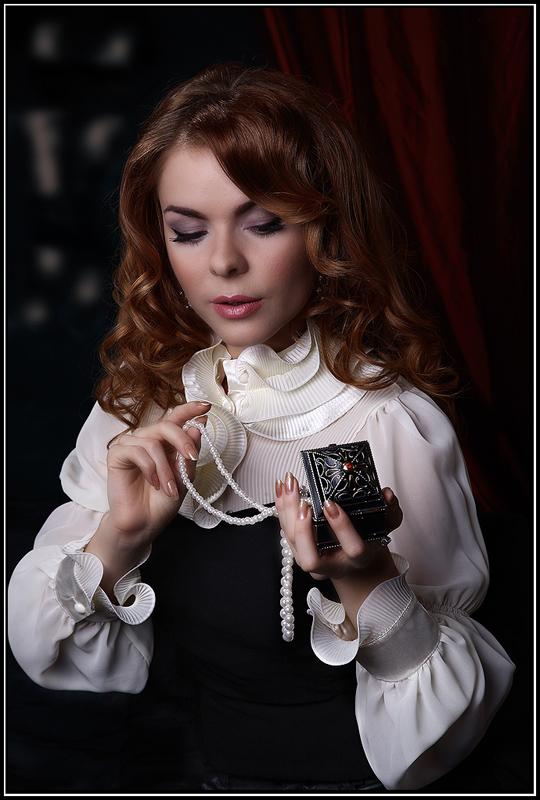 """фото """"Портрет девушки с жемчугом"""" метки: портрет, гламур, женщина"""