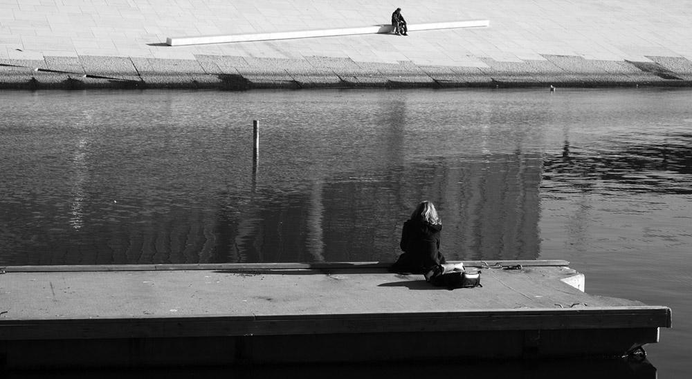 "фото ""At Oslo Harbour"" метки: черно-белые, город,"