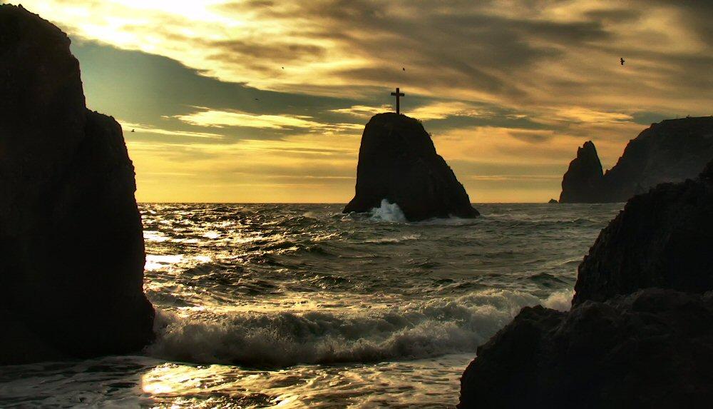 "фото ""Преддверие бури"" метки: пейзаж, вода, закат"