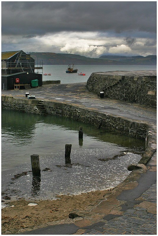 """фото """"Вечер в Lyme Regis."""" метки: пейзаж, путешествия, вода"""