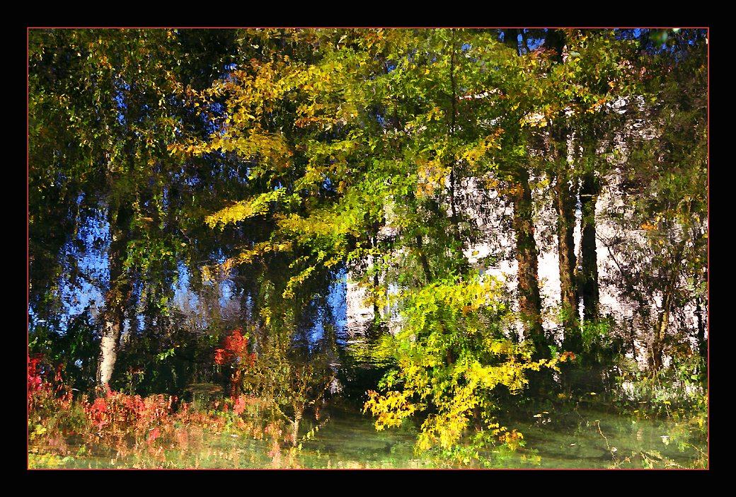 """фото """"Fall Impressionism"""" метки: пейзаж, абстракция, осень"""