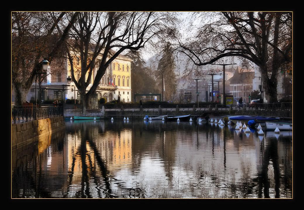 """фото """"My Town"""" метки: пейзаж, вода, зима"""