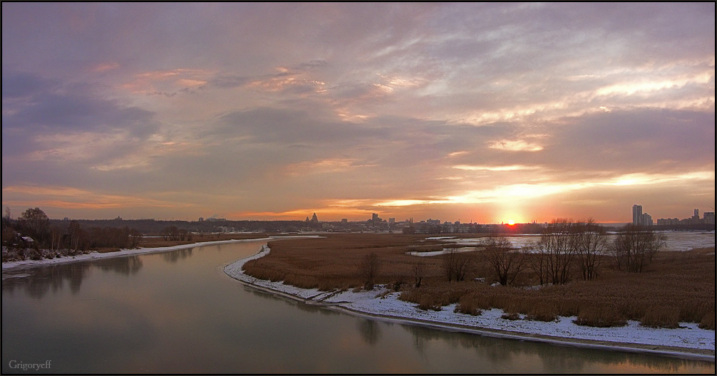 "фото ""Ноябрьский закат над Казанкой"" метки: пейзаж, закат"