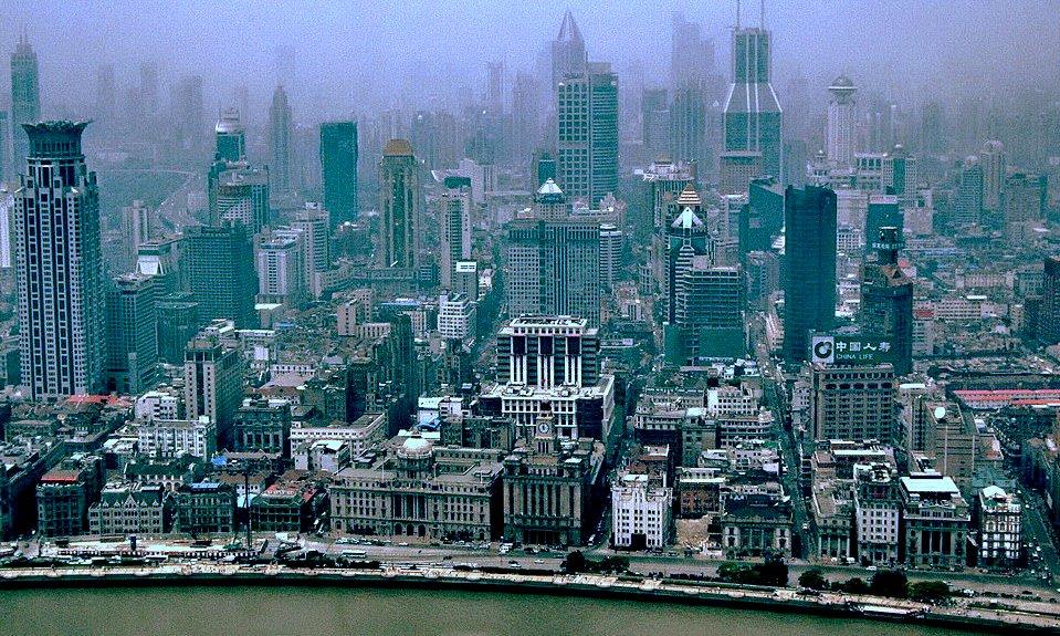 """фото """"пролетая над гнездом ....Шанхая."""" метки: архитектура, путешествия, пейзаж, Азия"""