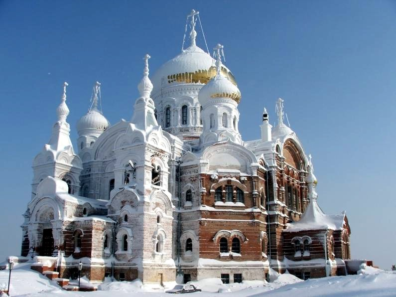 "photo ""Belogorsk Monastery, Russia"" tags: architecture, landscape,"