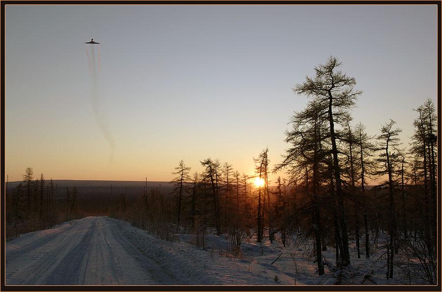 """фото """"Самый короткий день"""" метки: пейзаж, закат, зима"""