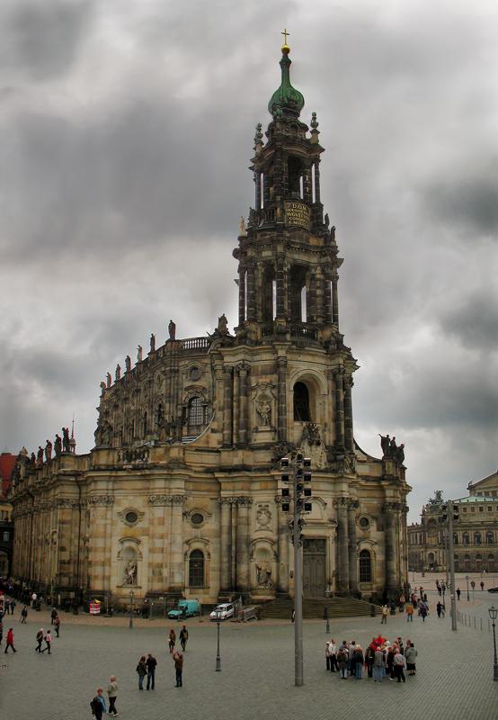 """фото """"Величественный и мрачный Дрезден..."""" метки: архитектура, путешествия, пейзаж, Европа"""