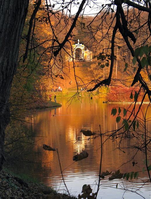 """фото """"Взгляд сквозь ветки..."""" метки: пейзаж, вода, осень"""