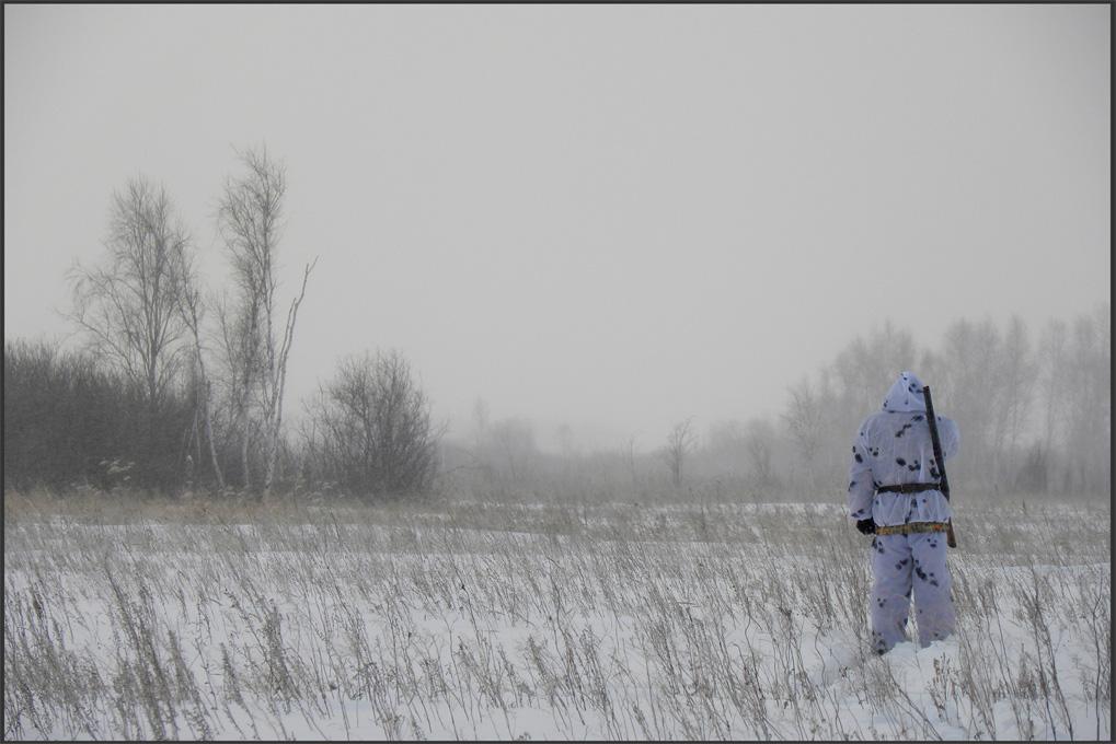 """фото """"Охотник"""" метки: репортаж, пейзаж, зима"""