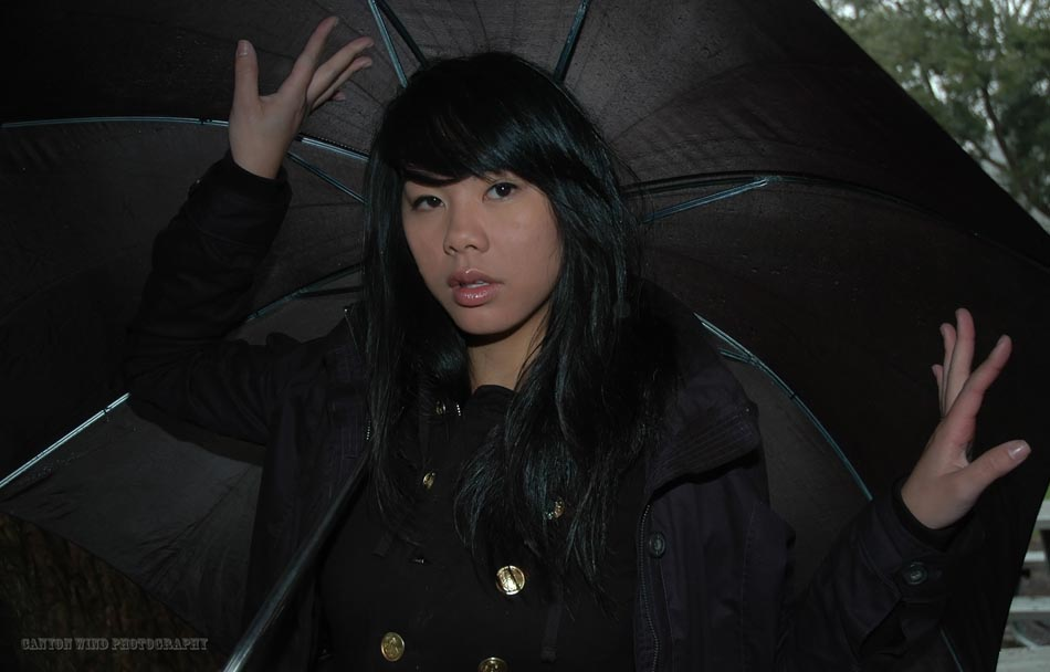 "photo ""I love Asia in the rain."" tags: portrait, travel, Asia, woman"