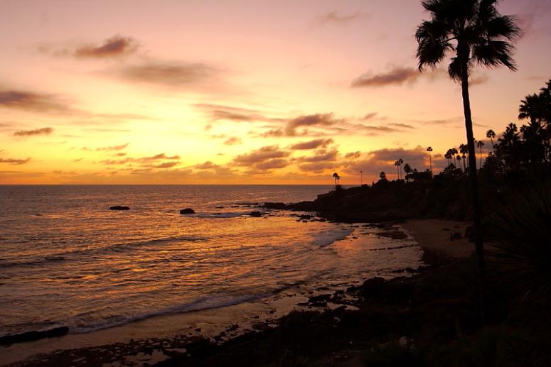 """фото """"California Sunset"""" метки: пейзаж, путешествия, Северная Америка, закат"""