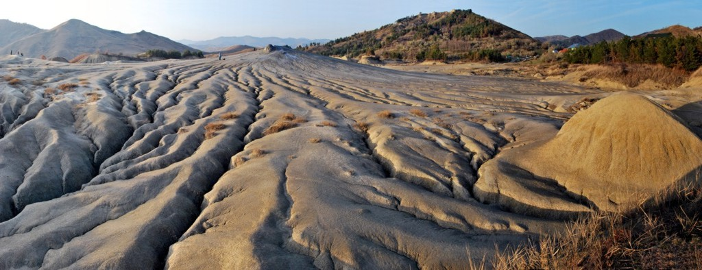 "photo ""Mud Volcanoes"" tags: landscape, panoramic,"