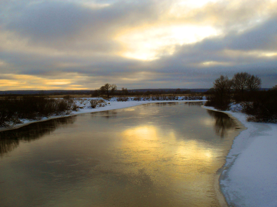 """фото """"На закате."""" метки: пейзаж, зима"""